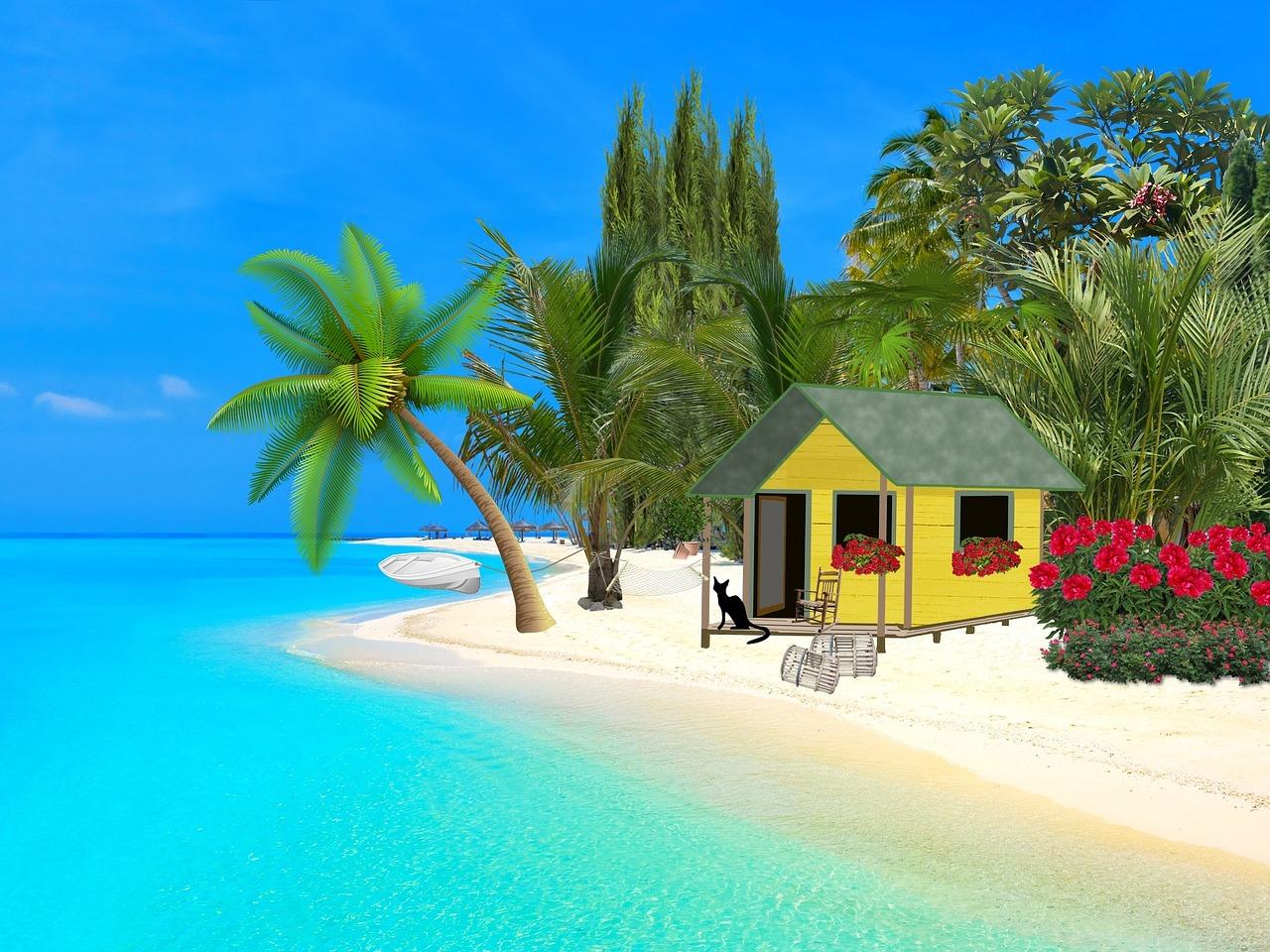 Domek na pláži