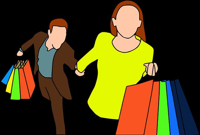 spěch na nákupech