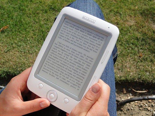 dotykový displej na e booku