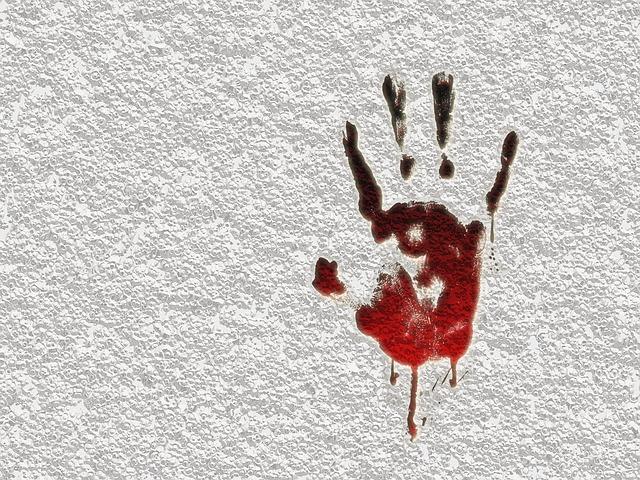 krvavý otisk